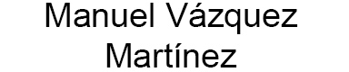 Manuel Vázquez Martínez