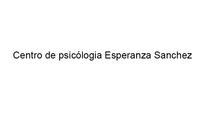 Centro de psicología Esperanza Sanchez